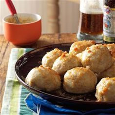 German Potato Dumplings Recipe -Potato dumplings (called Kartoffel Kloesse in Germany) are a delightful addition to any German feast. The browned butter sauce is delectable.—Arline Hofland, Deer Lodge, Montana