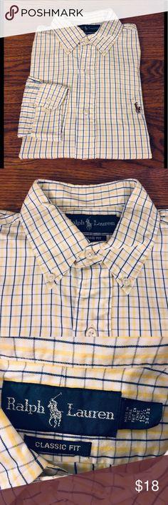 ce4bccc29f4 Polo Ralph Lauren White Yellow & Navy Plaid Shirt Polo Ralph Lauren White  With Navy Blue