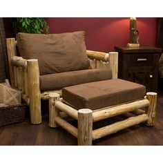 Rustic Chair and Ottoman