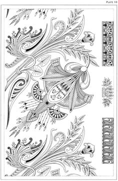 Dover publications, Creative Haven Art Deco Egyptian Designs Coloring Book. Artwork adapted from designs by Paul Marie. Motif Art Deco, Art Deco Design, Art Nouveau, Colouring Pages, Coloring Books, 1000 Tattoos, Art Inspo, Art Deco Tattoo, Art Deco Colors