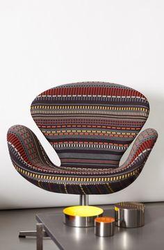 Hansen x Paul smith.  Egg chair.  Over easy.
