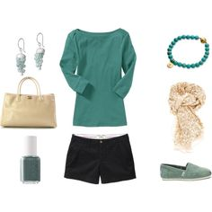 Green Casual, created by achristie on Polyvore