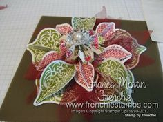 Stamp & Scrap with Frenchie: Stampin'Up! Holiday Ornament Video
