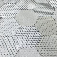 Say hello to our new Concrete effect Jesmonite 'Hex' tile