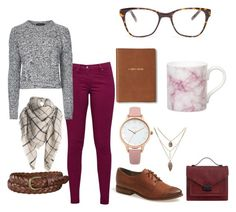 Work Outfit #4 by leahlouise17 on Polyvore featuring Topshop, Great Plains, Hinge, Loeffler Randall, Oasis, Prism, Uniqlo, Monica Rich Kosann and Gary Birks Design
