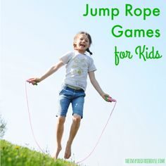 Jump Rope Games for Kids. >> Jump roping is not only a great activity for cardiovascular health, it is amazing for coordination too!