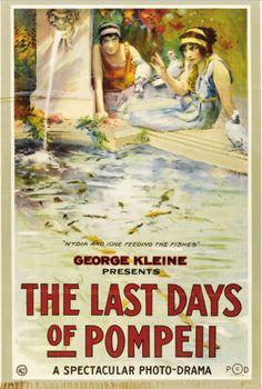 American movie poster for Gli ultimi giorni di Pompeii (Mario Caserini & Eleuterio Rodolfi, 1913)
