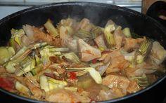 La Piccola Casa: Stoccafisso con i carciofi alla ligure - un fantastico piatto di pesce veloce da preparare