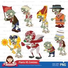 Zombies Digital Clipart by ClipartMama on Etsy