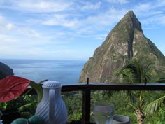 Breakfast here again?  Yes, please. Ladera, St. Lucia.