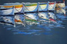 Soft Pastel Art, Landscape Paintings, Boats, Art Ideas, Fine Art, Facebook, Paisajes, Board