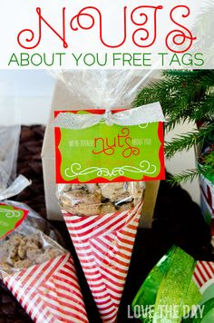'Nuts About You' FREE Christmas Printable Tags
