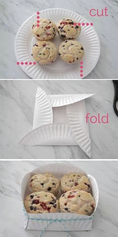 Diy cupcake box from paper plates