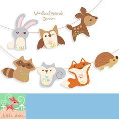 Adorable Printable Woodland Animals Banner