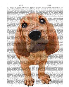 Bloodhound Print, Puppy, dog poster dog wall decor dog illustration dog picture dog gift for dog lover dog Print dog art, Bloodhound art on Etsy, $15.00