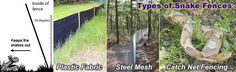 Four types of snake fences Landscaping With Rocks, Front Yard Landscaping, Snake Removal, Keep Snakes Away, Types Of Snake, Under Decks, Farm Fence, House Landscape, Garden Fencing