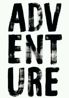 Adventure in bold brush font \ Lettering & Calligraphy Brush Font, Brush Lettering, Hand Lettering, Brush Type, Typography Letters, Typography Design, Bold Typography, Creative Typography, Black And White
