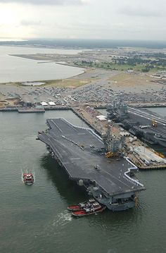Naval Station Norfolk , is a United States Navy base in Norfolk, Virginia. It supports naval forces in the United States Fleet Forces Command,[2] those operating in the Atlantic Ocean, Mediterranean Sea, and Indian Ocean. NS Norfolk, also known as the Norfolk Naval Base, occupies about four miles of waterfront space and seven miles of pier and wharf space of the Hampton Roads peninsula known as Sewell's Point. It is the world's largest naval station, supporting 75 ships and 134 aircraft…