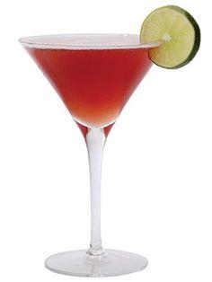 MEXICAN COSMO:  1 1/2 oz. Grey Goose L'Orange  1 oz. pineapple juice  Splash of Champagne