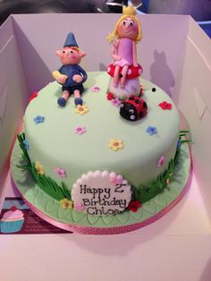Ben & Holly's Little Kingdom birthday cake