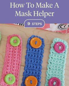 Crochet Cord, Crochet Mask, Crochet Faces, Crochet Stitches, Crochet Hooks, Free Crochet, Yarn Crafts, Diy And Crafts, Knitting Patterns