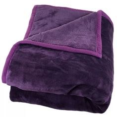 Windsor Home Solid Soft Heavy Thick Weighted Plush Mink Blanket - 8 pounds (Purple - Machine Wash - Microfiber/Faux Fur - Woven - 8 lbs - Modern &