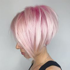 38 Pops of Purple Hair Color Ideas You Have to See - chic better Pastel Pink Hair, Hair Color Purple, Cool Hair Color, Blonde Makeup, Hair Makeup, Short Hair Cuts, Short Hair Styles, Pink Short Hair, Pixie Cuts