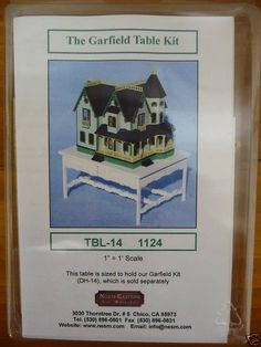 1/12th scale Miniature Dollhouse Table Kit for The Garfield 1/144th scale house | eBay
