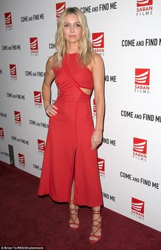 Gorgeous: Annabelle Wallis was certainly the centre of attention on Thursday night at the premiere for her new film Come And Find Me in Los Angeles