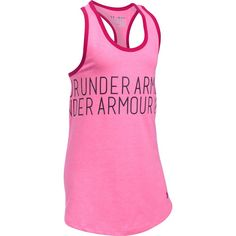 Girls 7-16 Under Armour Dazzle Wraparound Graphic Tank Top, Size: Medium, Red Other