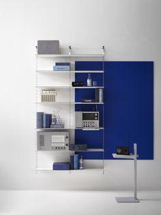 Thin Shelves, Green Shelves, Built In Shelves, Modular Shelving, Shelving Systems, House Doctor, Scandinavian Furniture, Scandinavian Design, String Regal