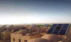 The worker's village in Egypt was built with 90 percent local earth materials.