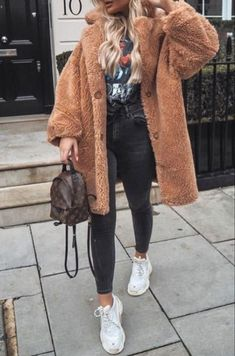 winter outfits new york Ideas Basket Femme Bla - winteroutfits Winter Outfits For Teen Girls, Winter Mode Outfits, Winter Outfits For School, Cold Weather Outfits, Winter Outfits For Work, Casual Winter Outfits, Winter Fashion Outfits, Outfits For Teens, New York Winter Outfit