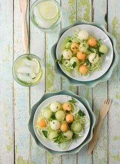 Cucumber Melon Spa Salad - BoulderLocavore.com