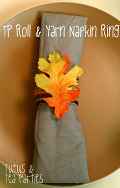 DIY Fall Napkin Rings by Lauren Frank. What a great way to make the Thanksgiving table just a little more special this year!