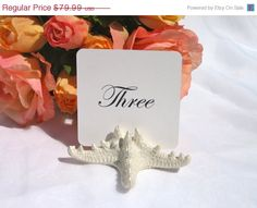 50 off thru Friday Pearlized  Starfish Table Card by Gallery360, $39.99