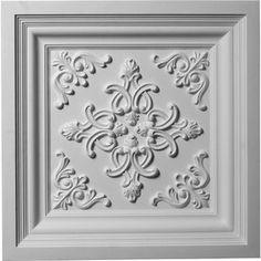 Ekena Millwork (Common: X Actual: X Kinsley Primed Patterned Drop Tile Ceiling Tiles Ct - Drop Ideas Drop Ceiling Tiles, Dropped Ceiling, Filter, Ceiling Medallions, Ceiling Design, Ceiling Ideas, Home Renovation, Home Improvement, Beautiful