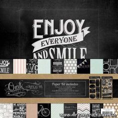 Набор бумаги для скрапбукинга 30*30 см, 12 листов My Mind's Eye Chalk Studio   Интернет-магазин DreamCraft