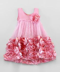 Take a look at this Dusty Rose Rosette Dress by Mia Belle Baby on #zulily today! £30.99