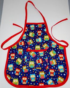Owls Toddler Apron by beckyspillowshop on Etsy