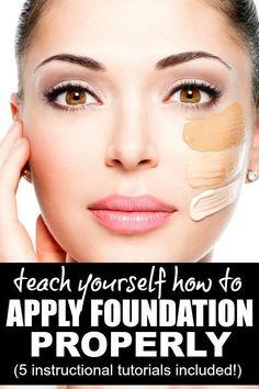 Whether you prefer applying your foundation with a brush, with a sponge, or with your fingers, this collection of tutorials will teach you how to apply foundation and concealer correctly for a flawless face. You don't need to be a beginner to reap the benefits for these videos - there are tips for even the most seasoned makeup artist here!