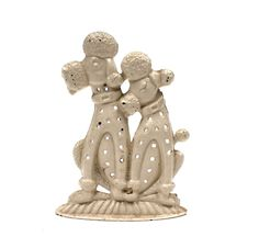 Vintage 1960s Enamel Metal Earring Jewelry Stand / Pins Button Holder // retro cute dog puppy. $3.00, via Etsy.