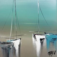 35 Easy Watercolor Landscape Painting Ideas To Try - Cartoon District Watercolor Landscape Paintings, Simple Acrylic Paintings, Acrylic Art, Watercolor Art, Sailboat Painting, Boat Art, Art For Art Sake, Abstract Art, Shellfish Recipes