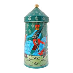 Dennis Chinaworks pottery designed by Sally Tuffin. This Jousting design was produced from 2010 until It is a numbered edition limited to Green Tower, Pottery Designs, Pottery Vase, Sally, Ceramics, Christmas Ornaments, Holiday Decor, Home Decor, Art