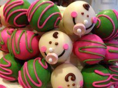 Baby shower Cake Truffles! www.CakeTrufflesByLauren.com