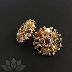 Silver Ring With Stone Gold Jhumka Earrings, Jewelry Design Earrings, Gold Earrings Designs, Gold Jewellery Design, Beaded Jewelry, Diamond Jewellery, Necklace Designs, Diamond Earrings Indian, Gold Necklace