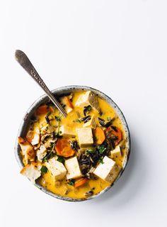 Rustic Tofu Wild Rice Soup