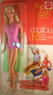 Malibu P.J....I loved this doll better than Barbie...She was so tan and beautiful and came with her own sunglasses (sewn to her head) and puckered lips!  She was my favorite