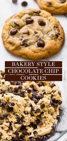 Bakery Style Chocolate Chip Cookie Recipe, Chocolate Chip Cookies Rezept, Homemade Chocolate Chip Cookies, Chocolate Chip Recipes, Easy Homemade Cookies, Chocolate Chip Cookies Recipe With Pudding, Chocolate Chip Cookies From Scratch Recipe, Best Chocolate Chip Cookie Recipe Chewy, Bakery Cookies Recipe