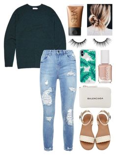 """Untitled #104"" by alyssa-wilsonn ❤ liked on Polyvore featuring NARS Cosmetics, tarte, The Casery, Essie and Balenciaga"